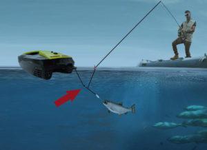 磁気フックと rc 餌餌と釣り